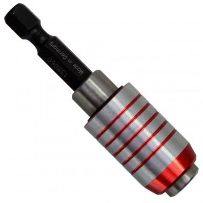 """1 Bithalter mit Schnellwechselfutter - magnetisch - 60mm lang - für 1-4"""" Bits"""