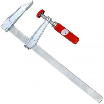 1 Schraubzwinge für Heimwerker leichte Ausführung Zinkdruckguß  300x80 mm
