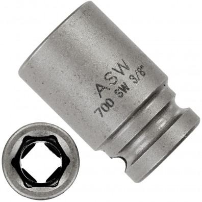 """1 ASW Steckschlüssel, Antrieb 1/4""""G 6,3 - Innensechskant,Länge 23 mm, SW 3/8"""""""