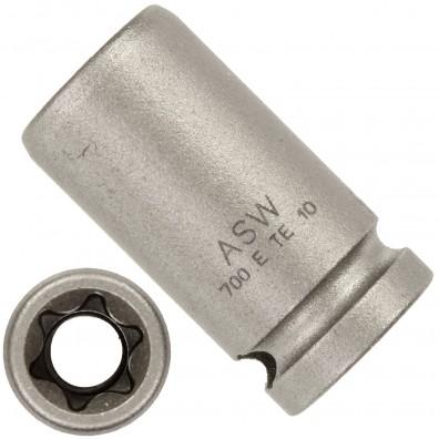 """1 ASW Steckschlüssel, Antrieb 1/4""""G 6,3,Länge 25 mm, Außen-Torx® SW E 10"""