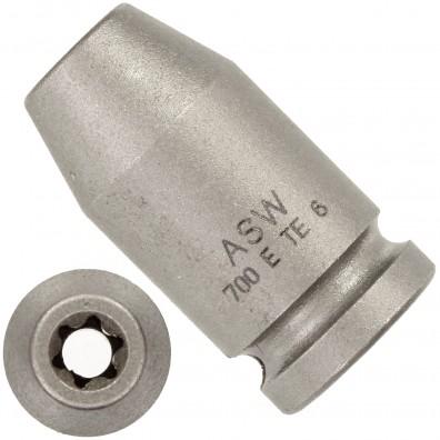 """1 ASW Steckschlüssel, Antrieb 1/4""""G 6,3,Länge 25 mm, Außen-Torx® SW E 6"""