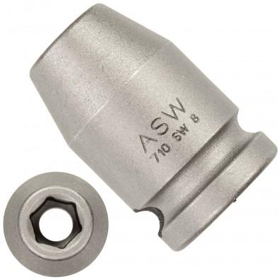 """1 ASW Steckschlüssel, Antrieb 3/8"""" G10 - Innensechskant,Länge 30 mm, SW 8"""