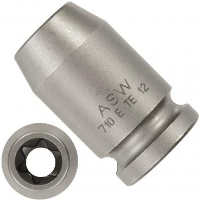 """1 ASW Steckschlüssel,Antrieb 3/8"""" G10 - E-Profil-Außen-Torx®,Länge 32 mm,SW E 12"""
