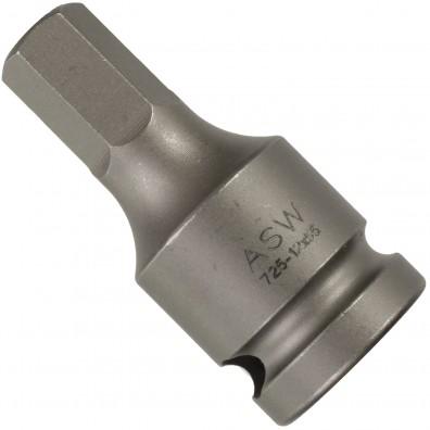 """1 ASW Steckschlüssel, Antrieb 1/2"""" G12,5 - Außensechskant, Länge 55 mm, SW 12"""