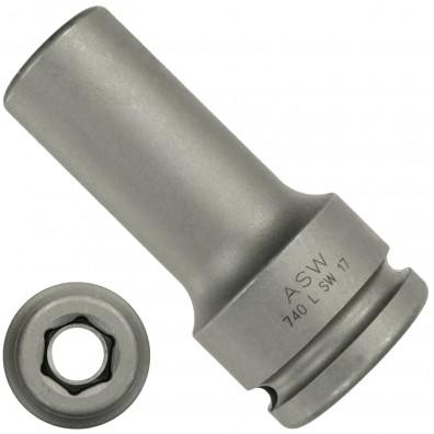 Steckschlüssel / Stecknuss - 3/4 Zoll Aufnahme - Abtrieb: Innensechskant - lange Ausführung
