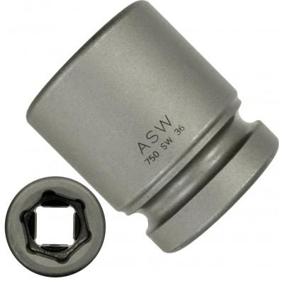 """1 ASW Steckschlüssel, Antrieb 1"""" H 25 - Innensechskant,Länge 65 mm, SW 36"""