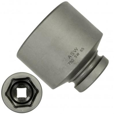 """1 ASW Steckschlüssel, Antrieb 1"""" H 25 - Innensechskant,Länge 90 mm, SW 65"""