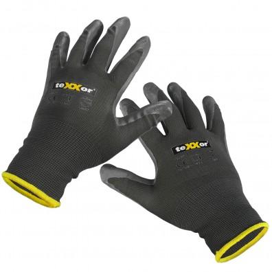 4 Paar Nylon - Schutzhandschuhe, vielseitig, grau, Gr. 10