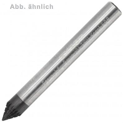 1 Exact HM-TiCN Frässtift, Form J, Rundkegel 60° (KSJ) 6x6 mm