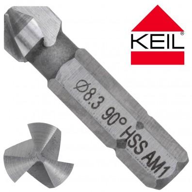 KEIL HSS Bit - Kegelsenker 90 Grad - 3-Schneiden