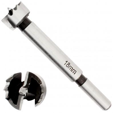 1 Premium Forstnerbohrer Ø 18 mm präzisionsgeschliffene Zähne mit Zentrierspitze