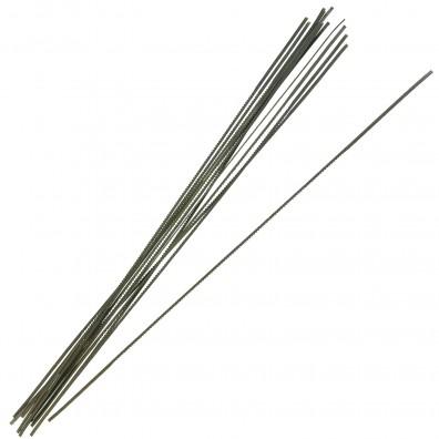 12 Laubsägeblätter, Haunstetter Nr. 3, Länge 130 mm