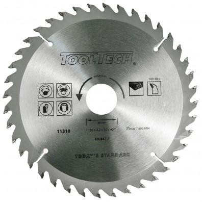 1 Hartmetall Kreissägeblatt, Wechselzahn,40 Zähne, 190x2,4x30mm mit Reduzierring