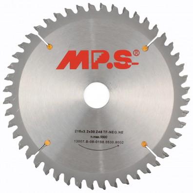 MPS Tischkreissägeblatt - Hartmetall bestückt - Negativ Flachzahn