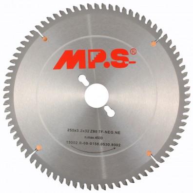 1 MPS Negativ HM bestücktes Tischkreissägeblatt, 80 Zähne, 250x3,2x32mm