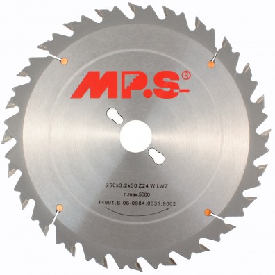 MPS Tischkreissägeblatt - Hartmetall bestückt - Langer Wechselzahn