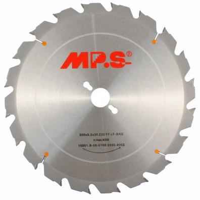 MPS Tischkreissägeblatt - Hartmetall bestückt - Flachzahn Fase - nagelfest