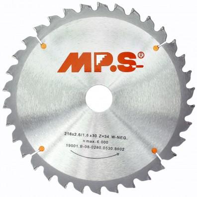 MPS Handkreissägeblatt - Hartmetall bestückt - negativ Zahn