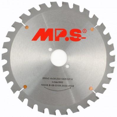 1 MPS HM bestücktes Handkreissägeblatt VarioFix, 30 Zähne, 200x2,8x30mm