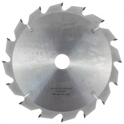 1 MPS HM bestücktes Handkreissägeblatt mit Reduzierung, 16 Zähne, 240x2,8x30mm