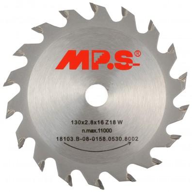 MPS Handkreissägeblatt - Hartmetall bestückt - Mittelzahn