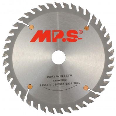 1 MPS HM bestücktes Handkreissägeblatt mit Reduzierung,, 40 Zähne, 160x2,8x20mm