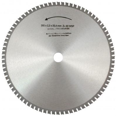 1 MPS HM bestücktes Handkreissägeblatt FerroFix, 80 Zähne, 305x2,2x25,4mm