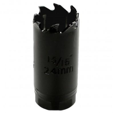 1 MPS Lochsäge - 24 mm Ø - Hartmetall - für Gipskarton & Holz geeignet