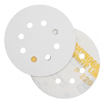 10 Schleifscheiben - Klettscheiben P220, Ø125 mm, 8-Loch