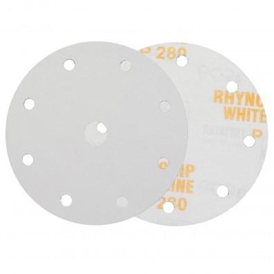 50 Schleifscheiben / Klettscheiben P280, Ø150 mm, 9-Loch
