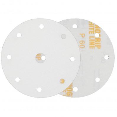 50 Schleifscheiben / Klettscheiben P60, Ø150 mm, 9-Loch