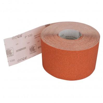 1 Rolle Schleifpapier P100, 115mm, 50m, rot