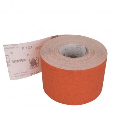 1 Rolle Schleifpapier P120, 115mm, 7,10m, rot