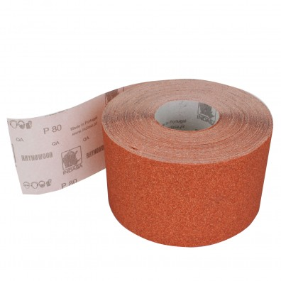1 Rolle Schleifpapier P80, 115mm, 6,25m, rot
