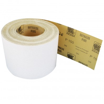 1 Rolle Schleifpapier Industrieware-weiß P150, 115mm, 16,6m