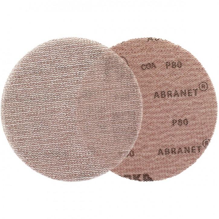 50 Abranet® Schleifgitter, 125 mm Ø, P80