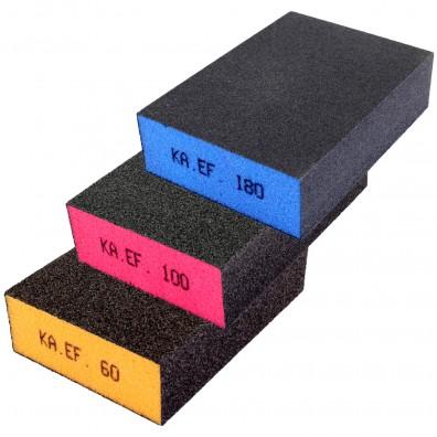 Schleifschwamm Set - K60 / 100 / 180 - Vierseitig beschichtet