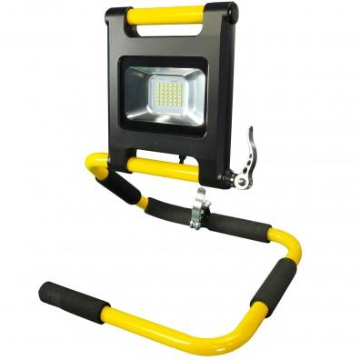 1 LED Akku Strahler Flatdesign Flexibel,  18 Watt, 1400 Lumen, IP54m mit Ladeg.