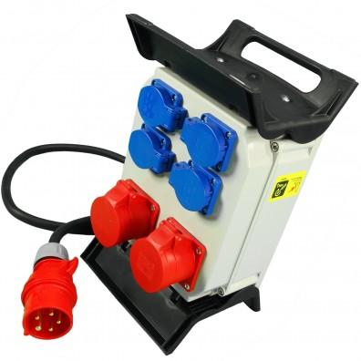1 Steckdosenverteiler Kunststoff 2xCEE  4xSchuko,IP44,16 A, Zul. H07RN-F 5G2,5
