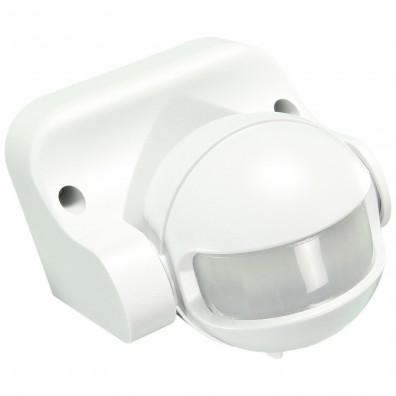 1 Bewegungsmelder, Dämmerungsschalter, 110 Grad, weiss, Aufputz, Außen, Wand