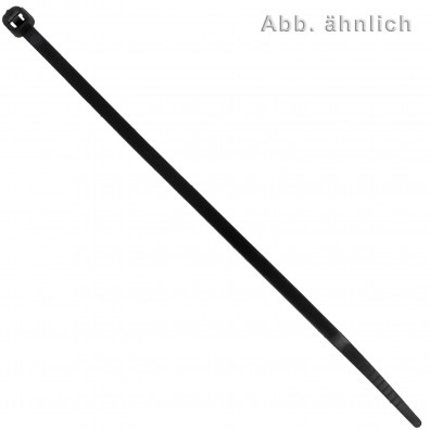 100 Kabelbinder Nylon schwarz 4,8 x 250 mm