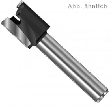 1 Edessö Planfräser HW für eingelassene Beschläge, 12 mm Schaft, 30 mm