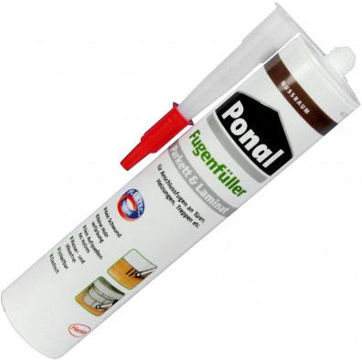 1 Kartusche Henkel Ponal Fugenfüller - Nussbaum - 280ml