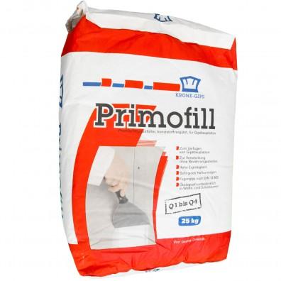 25 kg Krone Primofill, Q1-Q4, Gips Spachtelmasse für Gipsplatten und Renovierung