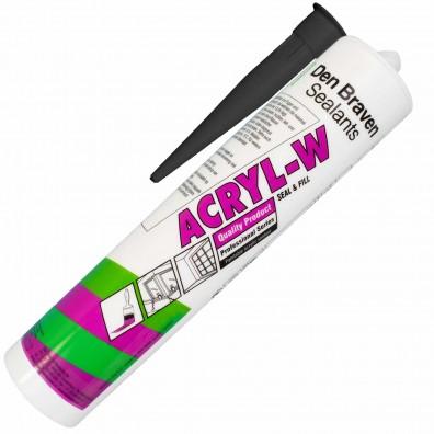 1 Kartusche Acryl (Den Braven), Dichtstoff,  310 ml, schwarz