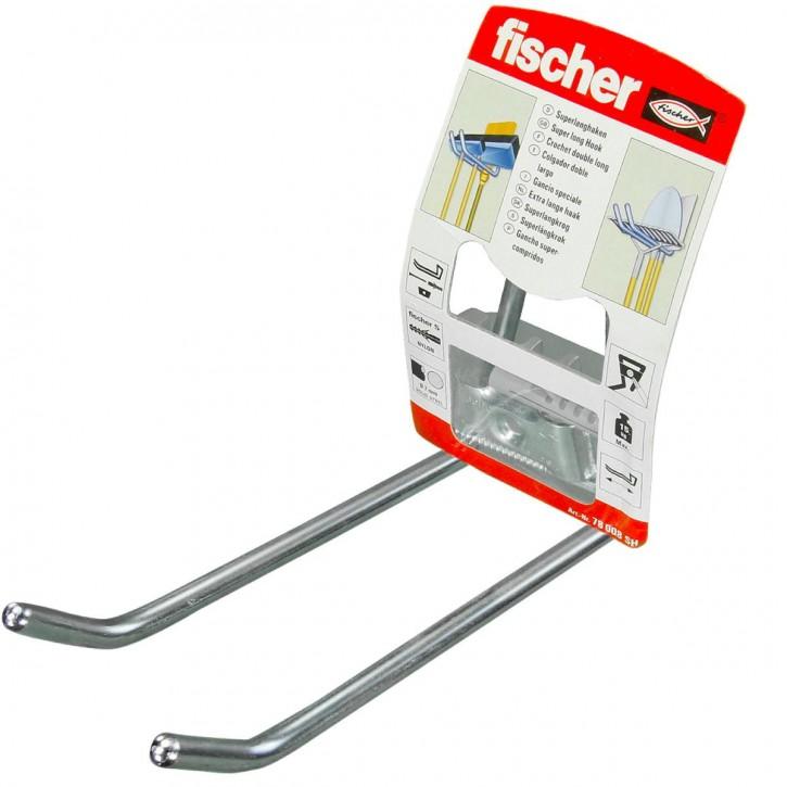 1 FISCHER System-Langhaken-Set 150mm, inkl. Dübel und Schraube
