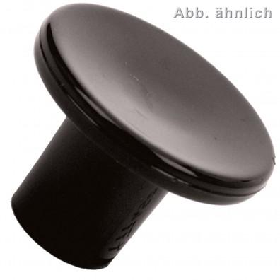 Möbelknöpfe - flach - Kunststoff