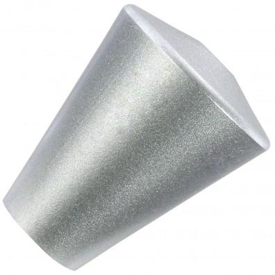 1 HSI Möbelknopf - Modern rund Kunststoff silber 22mm