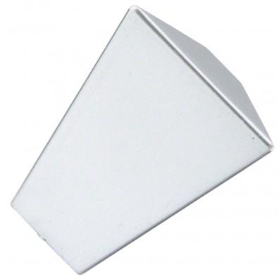 1 HSI Möbelknopf - Modern eckig Kunststoff silber 22mm