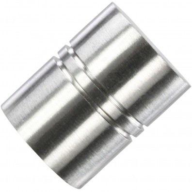 1 HSI Möbelknopf - Modern Rillen Edelstahl gebürstet 18x26mm